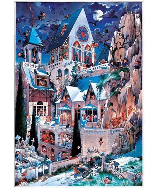 PUZZLE HEYE - J.J. LOUP : Le château des horreurs - 2000 pièces