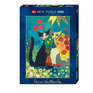 PUZZLE HEYE - R. WACHTMEISTER : Le parterre de fleurs - 1000 pièces