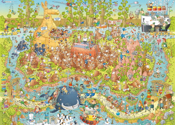 PUZZLE HEYE - M. DEGANO : Habitat australien - 1000 pièces
