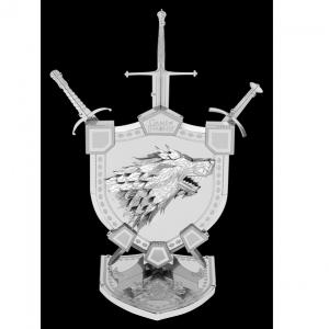 Metal Earth - ICONX – Game of Thrones - Emblème Maison Stark – Maquette 3D en métal