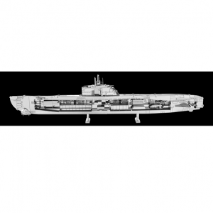 METAL EARTH - NAVIRES - SOUS-MARIN ALLEMAND TYPE XXI