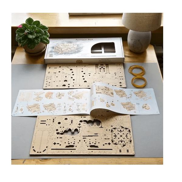 Boîte Antique Ugears – Puzzle 3D en bois