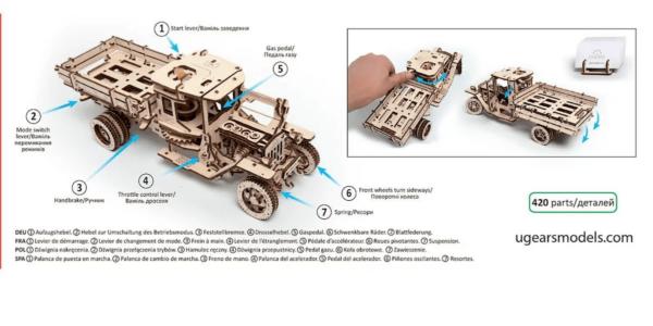 Camion UGM 11 Ugears – Puzzle 3d Mécanique En Bois