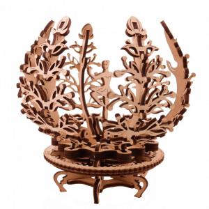Fleur Lila Ugears - Puzzle 3D Mécanique en Bois