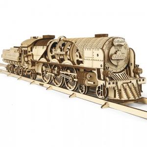 Locomotive V-Express Ugears – Puzzle 3d en bois