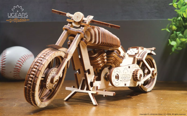 Moto VM-02 Ugears – Puzzle 3d en bois
