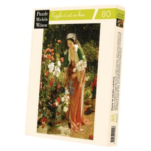 PUZZLE BOIS WILSON - J. LEWIS : Dans le jardin - 80 pièces