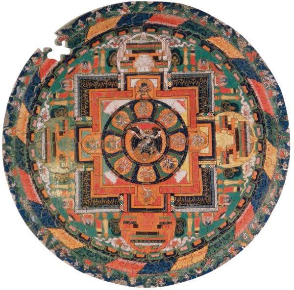 PUZZLE BOIS WILSON : Mandala de Vajrabhairava - 150 pièces