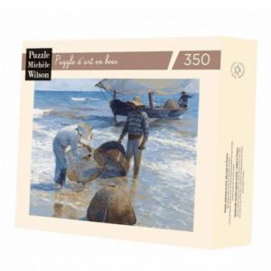 PUZZLE BOIS WILSON - J. SOROLLA : Les pêcheurs - 350 pièces