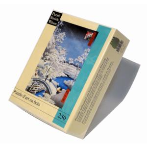 PUZZLE BOIS WILSON - U. HIROSHIGE : Le pont à Méguro - 250 pièces