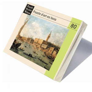 PUZZLE BOIS WILSON - F. GUARDI : The Doge's Palace and the Molo - 80 pièces