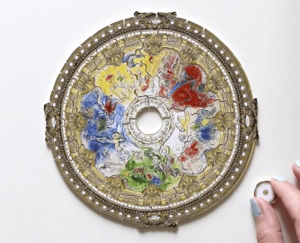 PUZZLE BOIS WILSON - M. CHAGALL : Plafond de l'opéra de Paris - 80 pièces