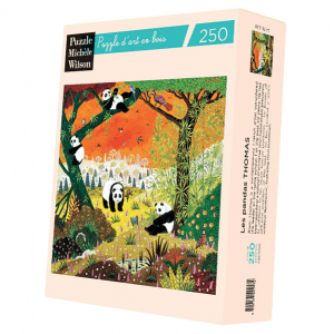 PUZZLE BOIS WILSON - A. THOMAS : Les pandas - 250 pièces