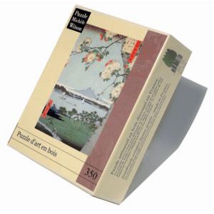PUZZLE BOIS WILSON - U. HIROSHIGE : Pommiers en fleurs - 350 pièces