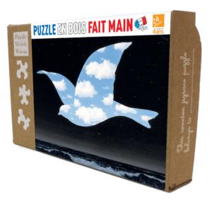 PUZZLE BOIS WILSON - R. MAGRITTE : Oiseau de ciel - 24 pièces