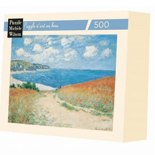 PUZZLE BOIS WILSON - C. MONET : Chemin dans les blés - 500 pièces