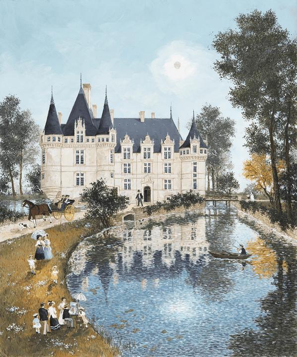 PUZZLE BOIS WILSON - F. DELACROIX : Azay-le-rideau - 150 pièces