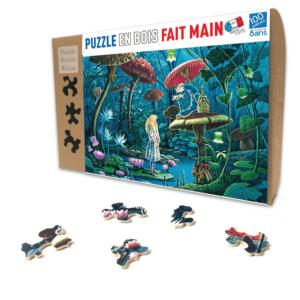 PUZZLE BOIS WILSON - F. MAGNIN : ALICE AU PAYS DES MERVEILLES - 100 pièces