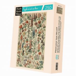 PUZZLE BOIS WILSON - A. MILLOT : Fleurs pour tours - 250 pièces