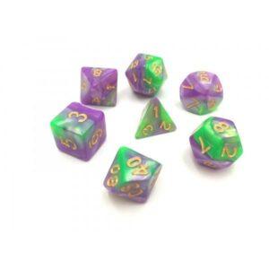 hdb-25-lot-de-7-des-fusion-vert-et-violet